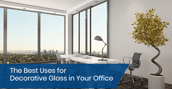 Decorative glass for office